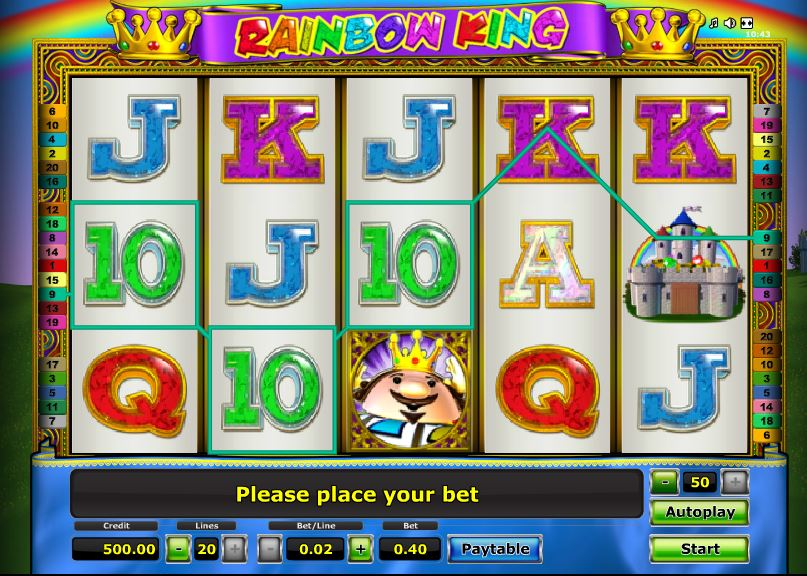 video slot free online rainbow king