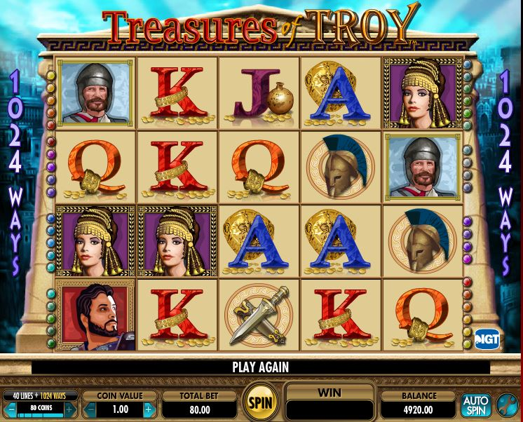 Treasures of Troy – Spill IGT spilleautomaten gratis