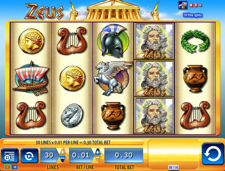 online zeus slot machine