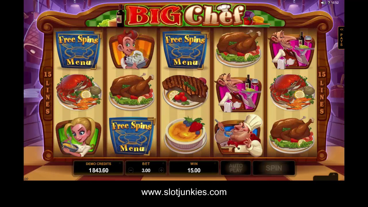 Big chef Slot by MICROGAMING